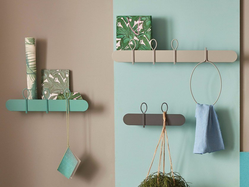 Metal coat rack / wall shelf BALLOON | Wall-mounted coat rack by meme design