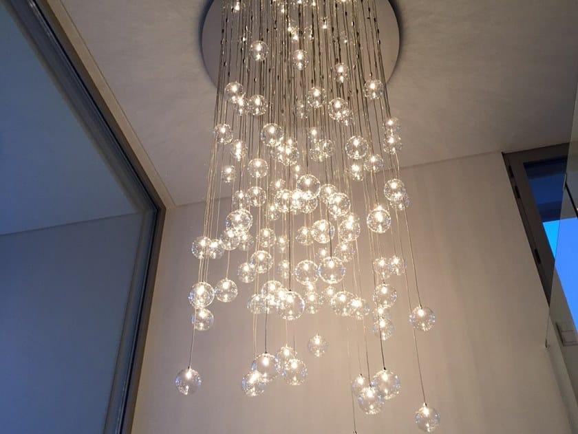 Direct light metal pendant lamp ballroom c by ilfari design