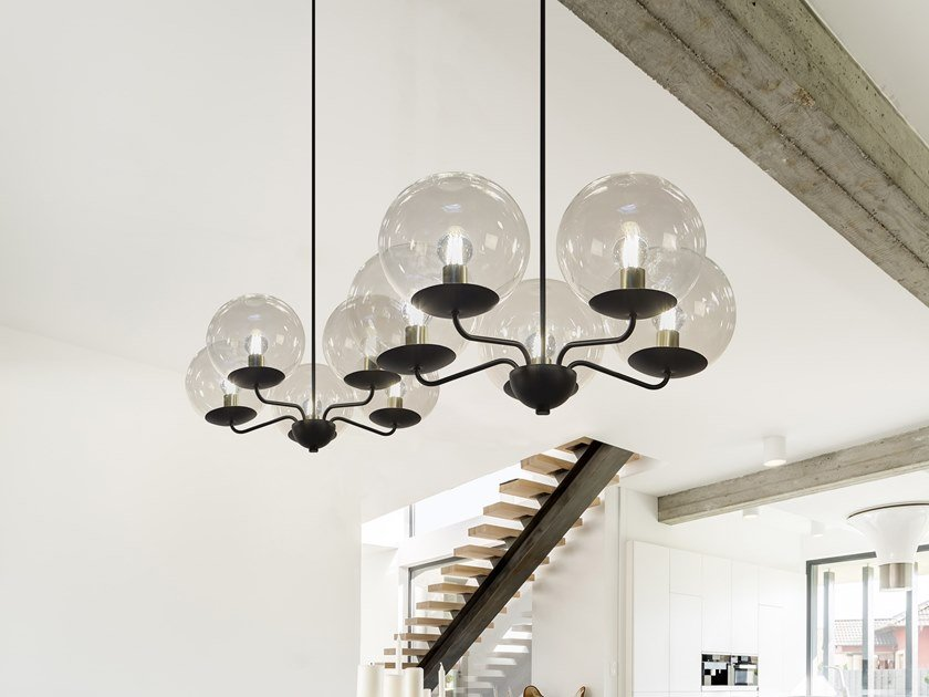 Indirect light metal pendant lamp BALLROOM H5 by ILFARI