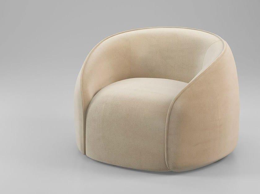 Fabric armchair with armrests BALOO | Armchair by ALIVAR