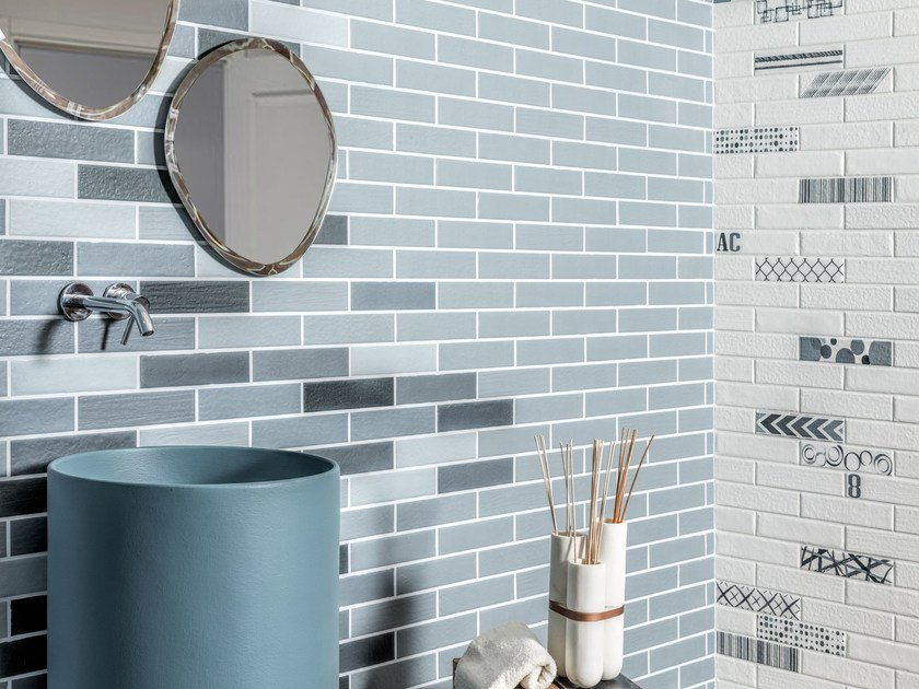 Porcelain stoneware wall/floor tiles with brick effect BALTIC by Ceramica Rondine