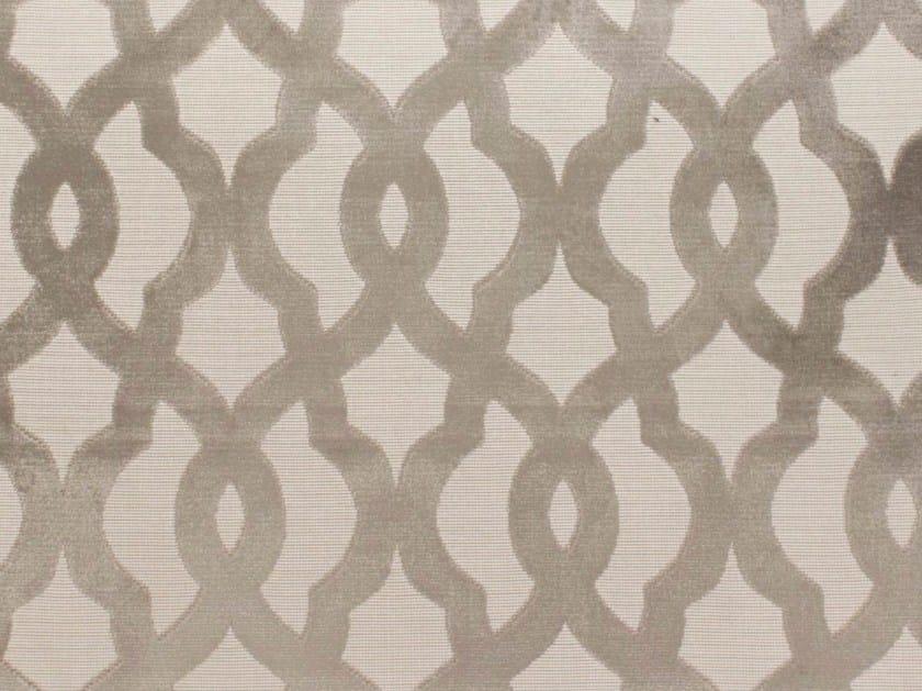 Velvet fabric with graphic pattern BALUSTRADE by Gancedo