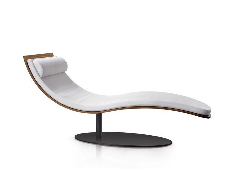 Wood veneer lounge chair BALZO by Oliver B.
