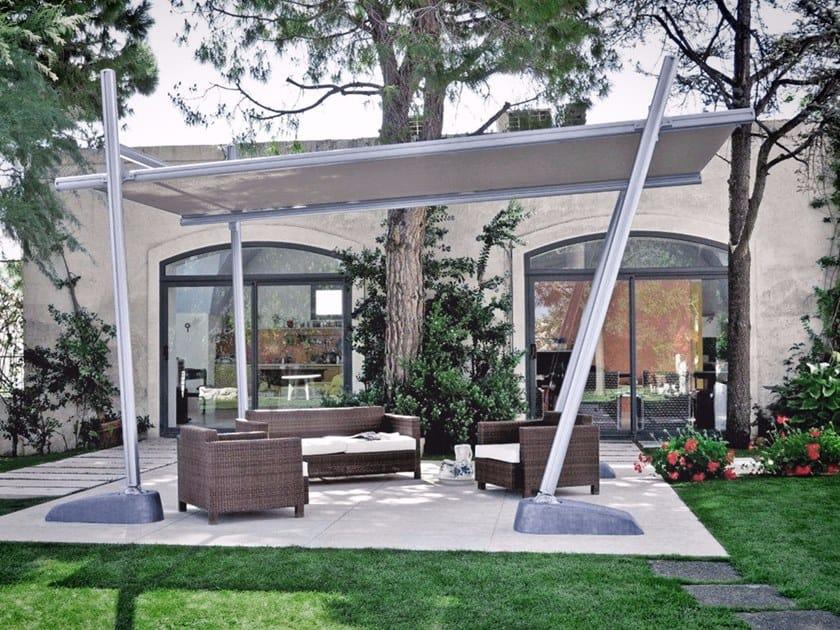 Rectangular aluminium Garden umbrella BAMBOO by Frigerio Tende da Sole