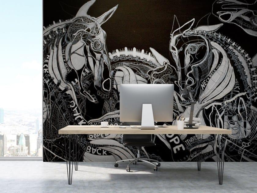 Motif vinyl wallpaper BAMBOO by Baboon