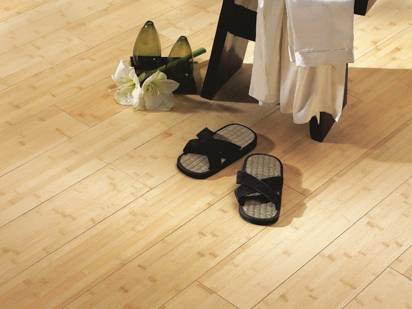 Engeneered wood floor BAMBOO NATURAL SATIN DIVA 139 by PANAGET