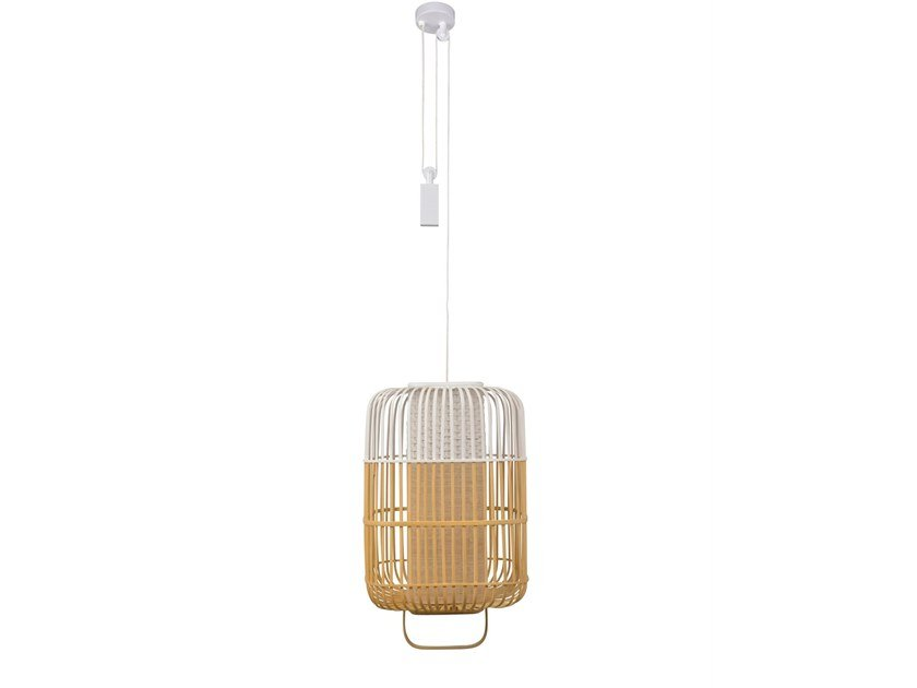 Bamboo pendant lamp BAMBOO SQUARE | Pendant lamp by Forestier
