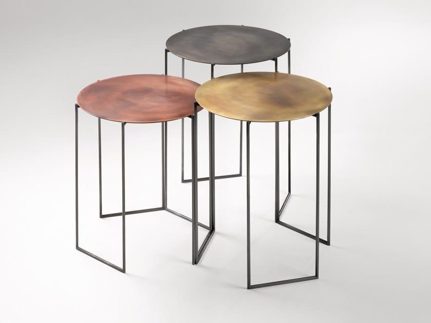 Tavolino rotondo in metallo BAND by DE CASTELLI