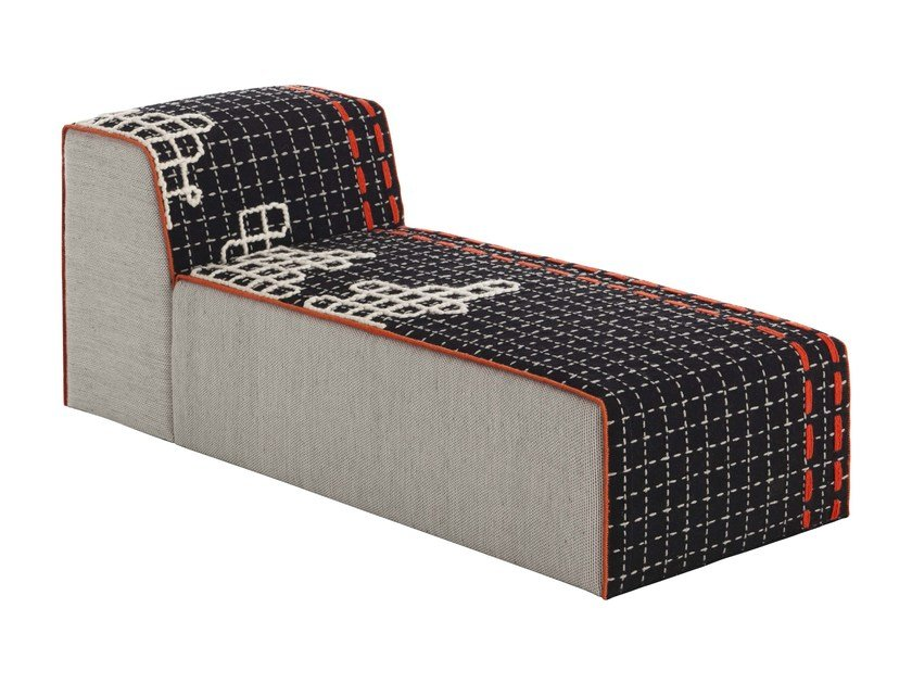 Upholstered fabric lounge chair BANDAS D | Lounge chair by GAN