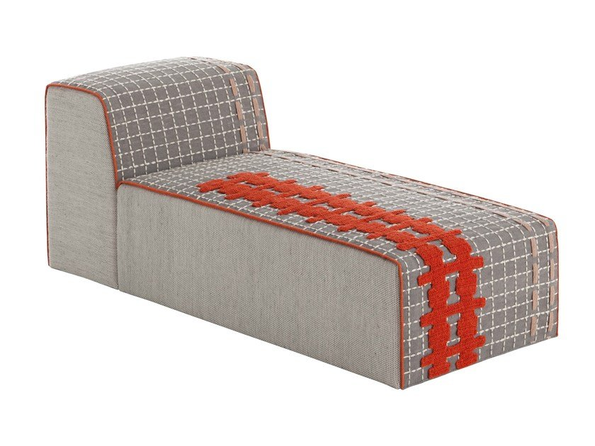 Upholstered fabric lounge chair BANDAS E | Lounge chair by GAN