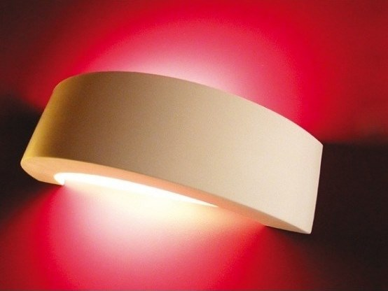 Plaster wall light BANDEAU by GESSO