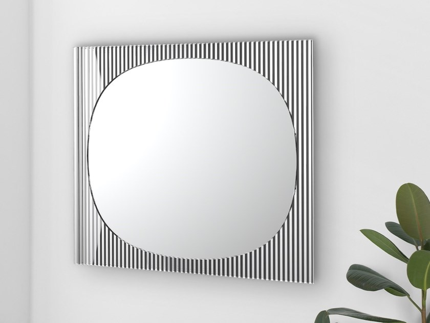 Square wall-mounted mirror BANDS | Square mirror by Tonelli Design
