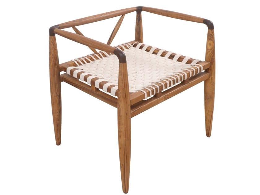 Teak chair with armrests BANGKU | Chair by ALANKARAM