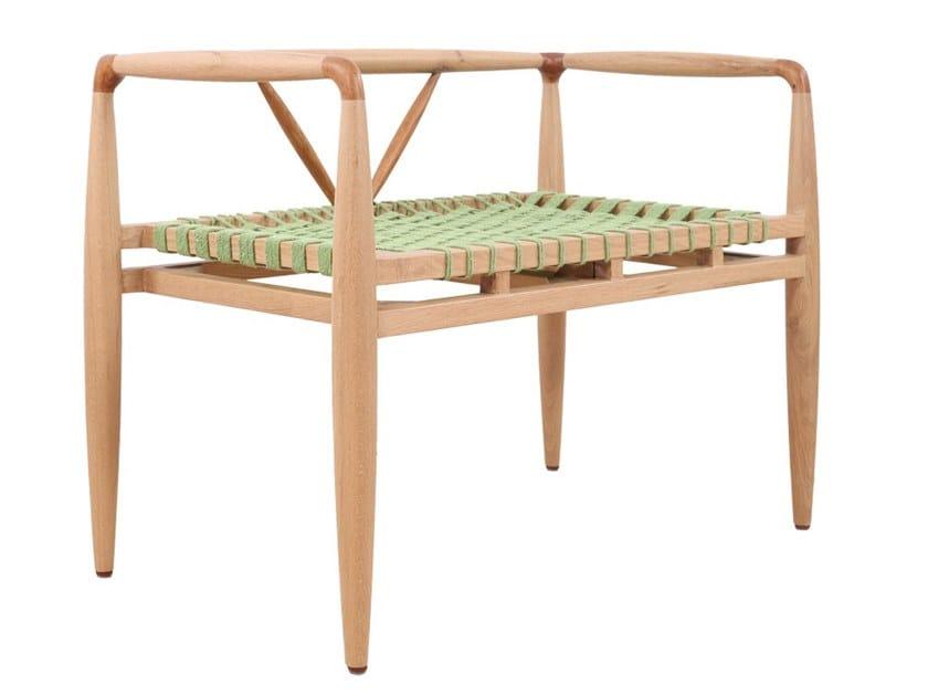 Teak small sofa BANGKU   Small sofa by ALANKARAM