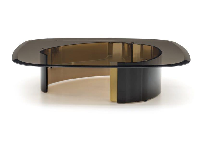 Tavolino quadrato in vetro da salotto BANGLE | Tavolino quadrato by Minotti
