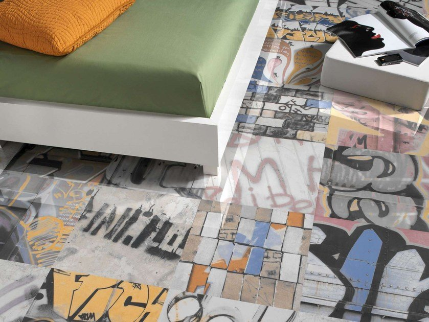 Porcelain stoneware wall/floor tiles BANSKY by Museum