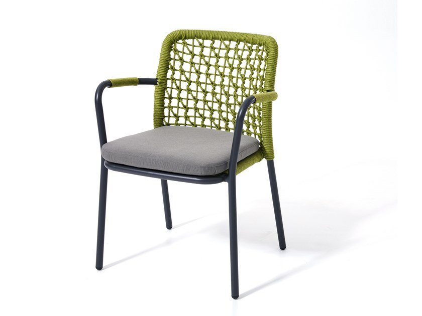 Stackable garden chair with armrests BANYAN TREE | Chair with armrests by Kun Design