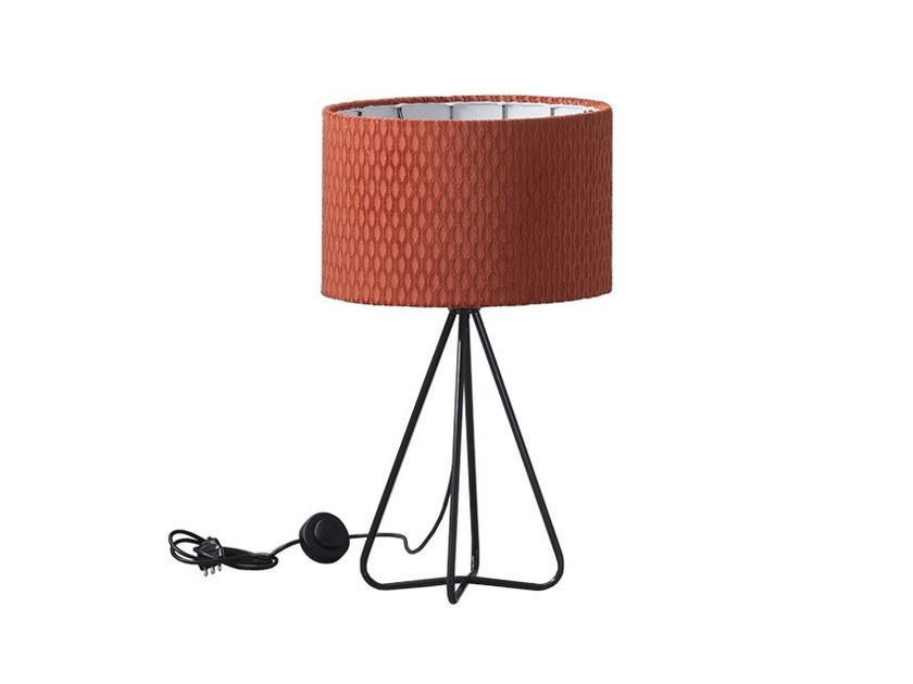 Direct-indirect light fabric table lamp BAO by Chaarme