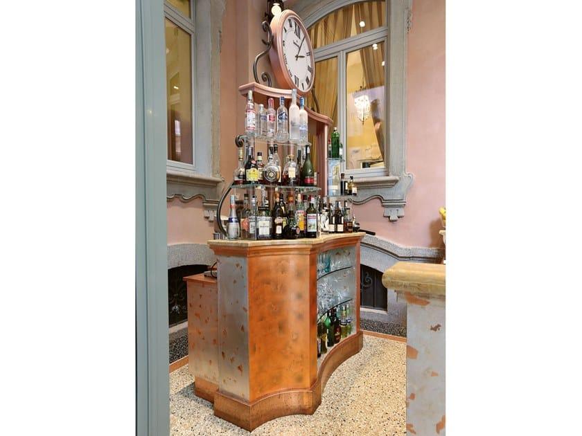 Bancone bar in legno BAR COUNTER by Arnaboldi Interiors