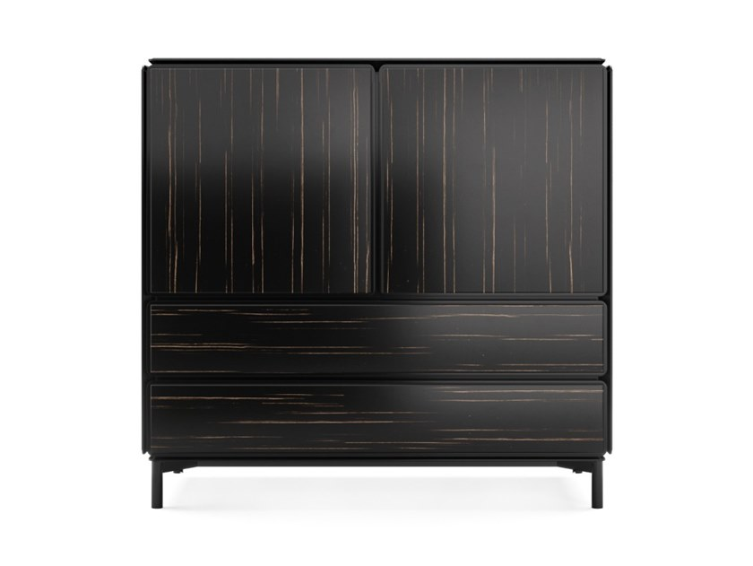 Wooden highboard with doors BARBICAN | Highboard by PRADDY