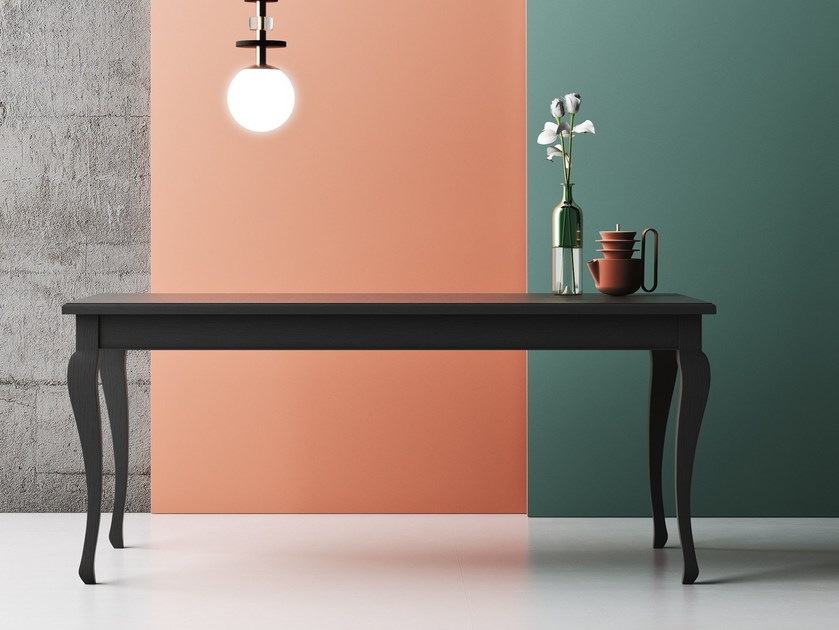 Extending rectangular oak dining table BARBOUN by Imperial Line
