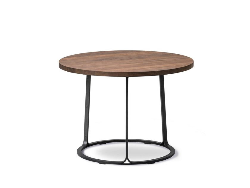 Round wooden side table BARBRY | Side table by FREDERICIA FURNITURE