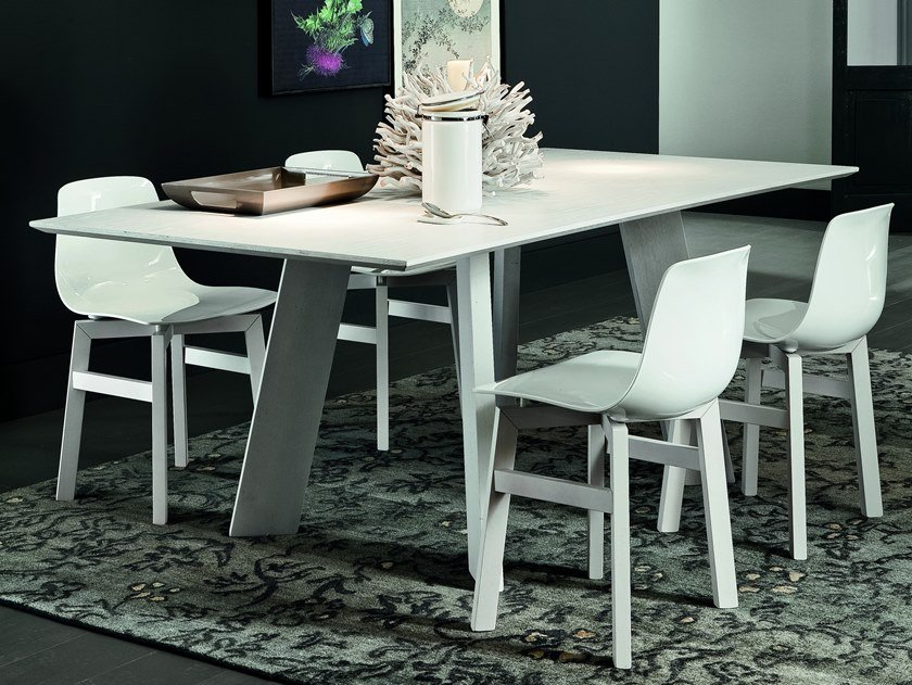 Rectangular wooden dining table BARCELLONA + STREET by AltaCorte