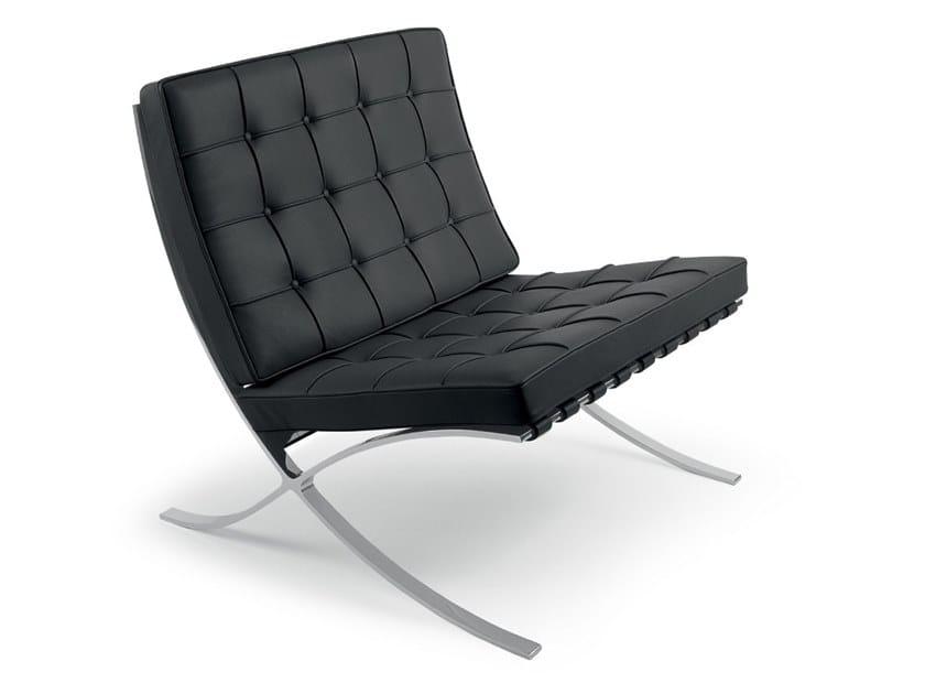 Leather armchair BARCELONA® | Armchair by KNOLL