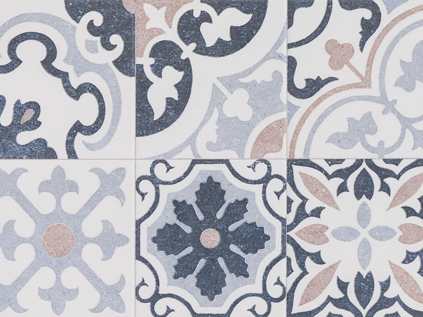 Porcelain stoneware wall/floor tiles with encaustic effect BARCELONA F by PORCELANOSA