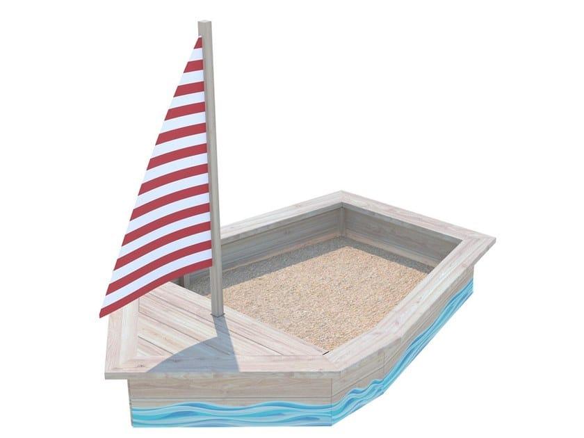 Vasca di sabbia in legno BARCHETTA by Zuri Design