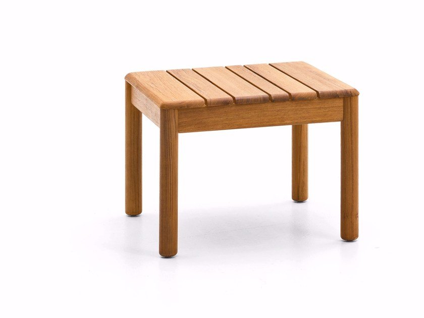 Square teak garden side table BARCODE | Coffee table by Varaschin