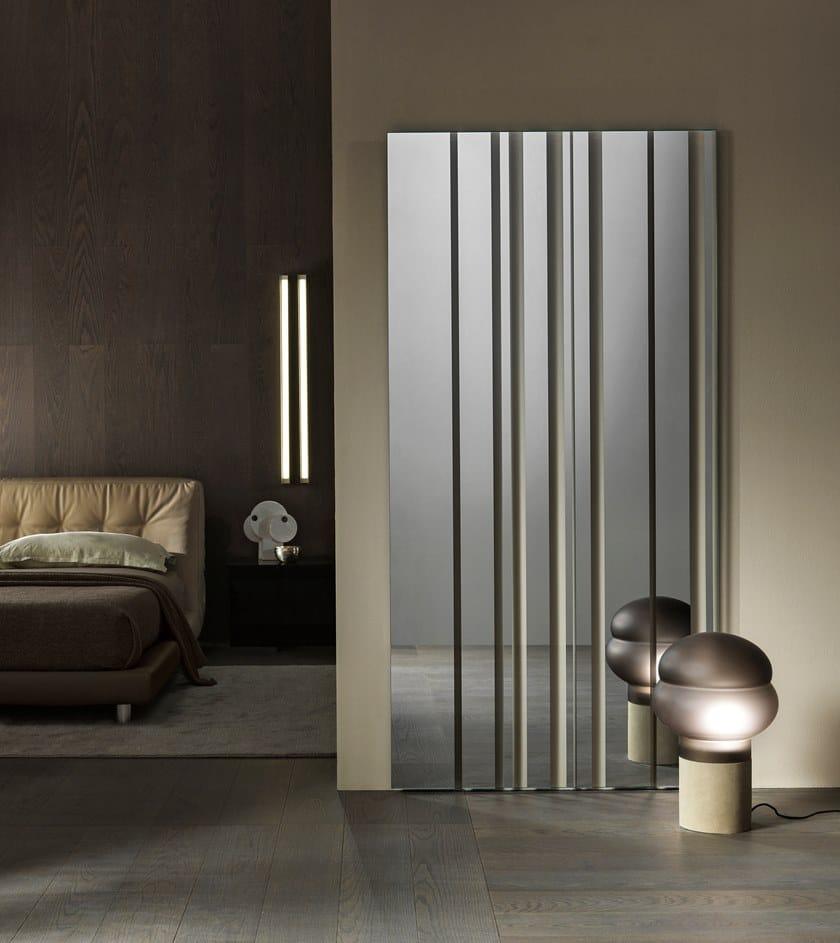 Pareti A Specchio Design specchio rettangolare da parete barcode   specchio