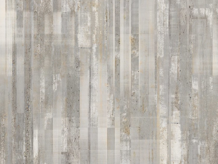 Wallpaper with concrete effect BARCODE by Tecnografica Italian Wallcoverings