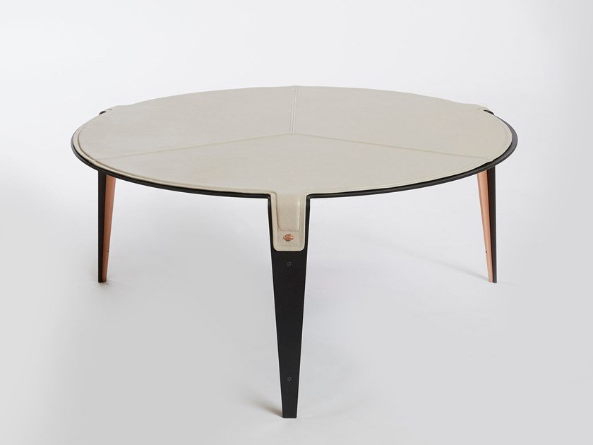 Tavolino Da Boudoir.Tavolino Rotondo In Pelle Da Salotto Bardot Tavolino Da