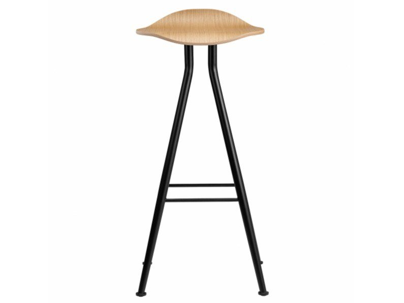 High stool with footrest BARFLY | Oak stool by NORR11