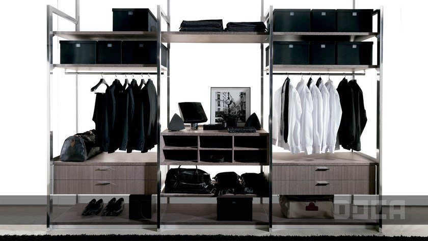 walk-in wardrobe BARNA TABAC By Doca