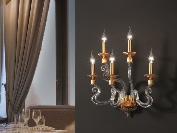 Wall light with Swarovski® crystals BAROCCO A5 by Euroluce Lampadari