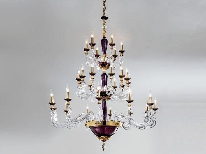 Chandelier with Swarovski® Crystals BAROCCO L12+12+6 by Euroluce Lampadari