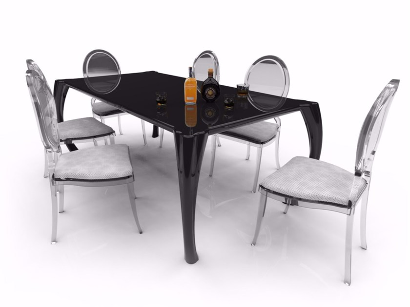 Rectangular Adamantx® dining table BAROKKO by ZAD ITALY