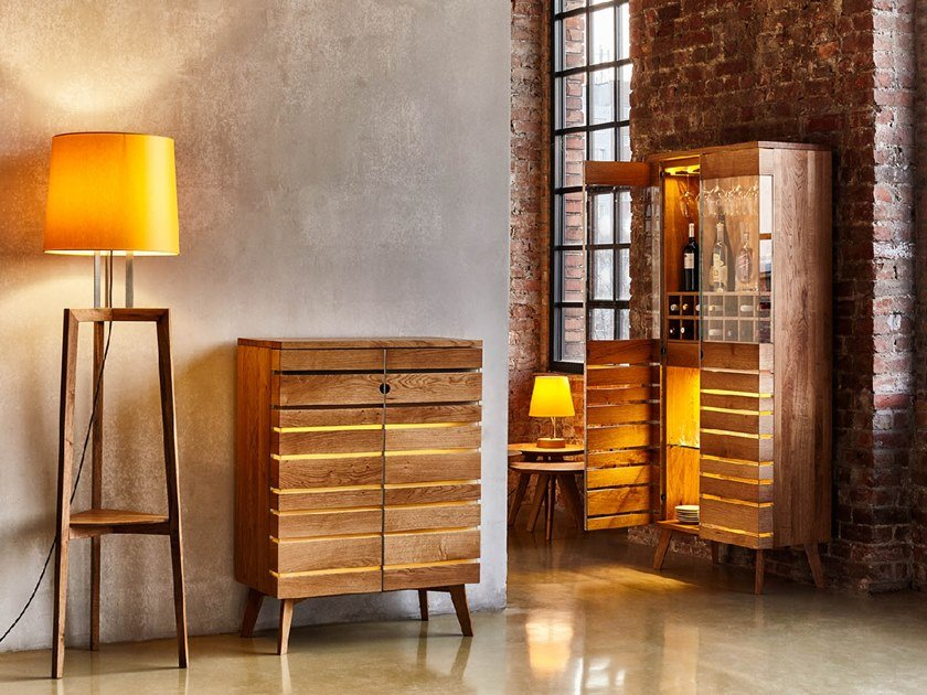 Baroso Solid Wood Bar Cabinet By Sixay Furniture