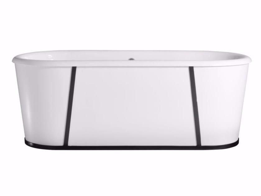 Verniciare Vasca Da Bagno Ghisa : Vasca da bagno centro stanza ovale in ghisa barry by gentry home
