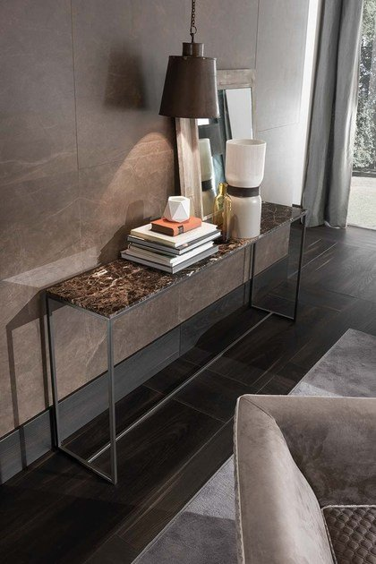Rectangular marble console table BARRY | Rectangular console table by Frigerio Salotti