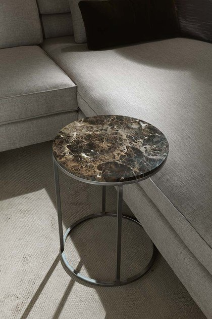Round marble side table BARRY | Round coffee table by Frigerio Salotti