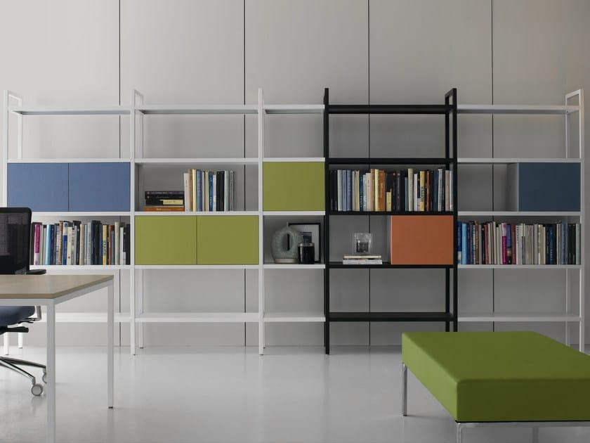 Open open tall metal shelving unit BARTOLO | Bookcase by Quinti Sedute