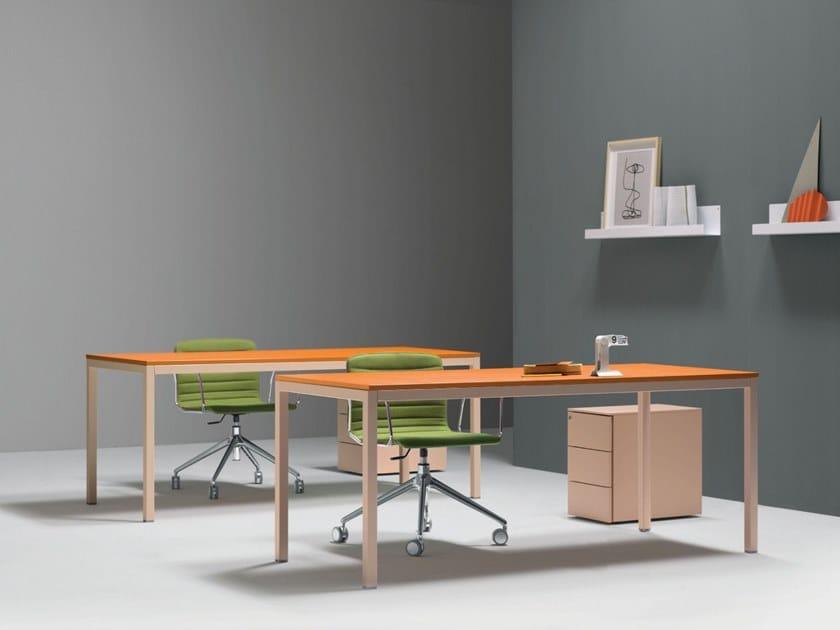 Rectangular workstation desk BARTOLO | Rectangular office desk by Quinti Sedute