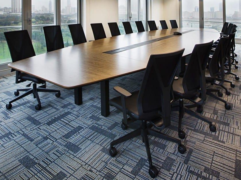 Wood Veneer Meeting Table BARYON By Tuna Ofis Design Ozan Sinan - Wood veneer conference table