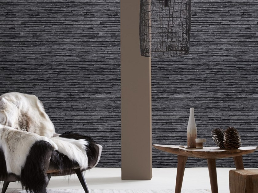 Stone effect wallpaper BASALT LAYERS by Koziel