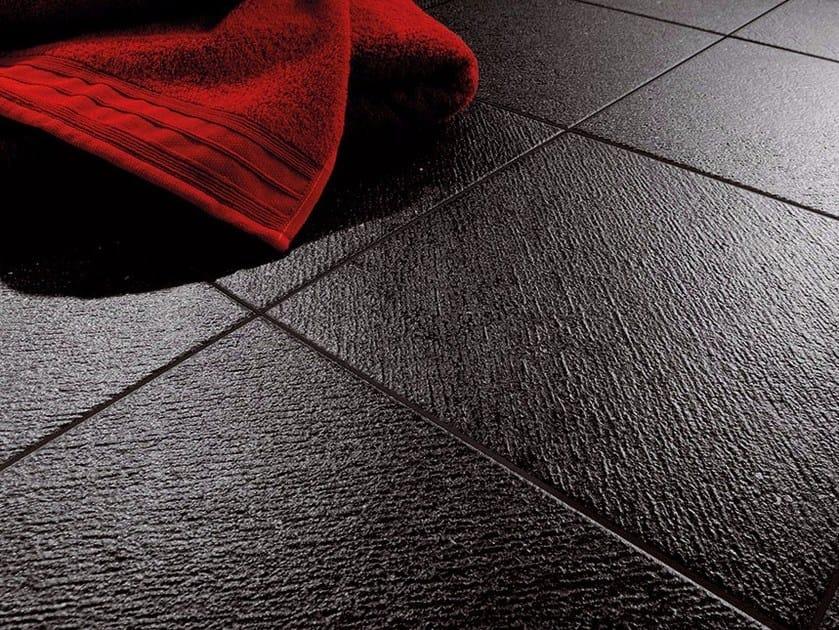 Indoor/outdoor porcelain stoneware flooring with stone effect BASALTINA | Flooring by Ceramiche Coem
