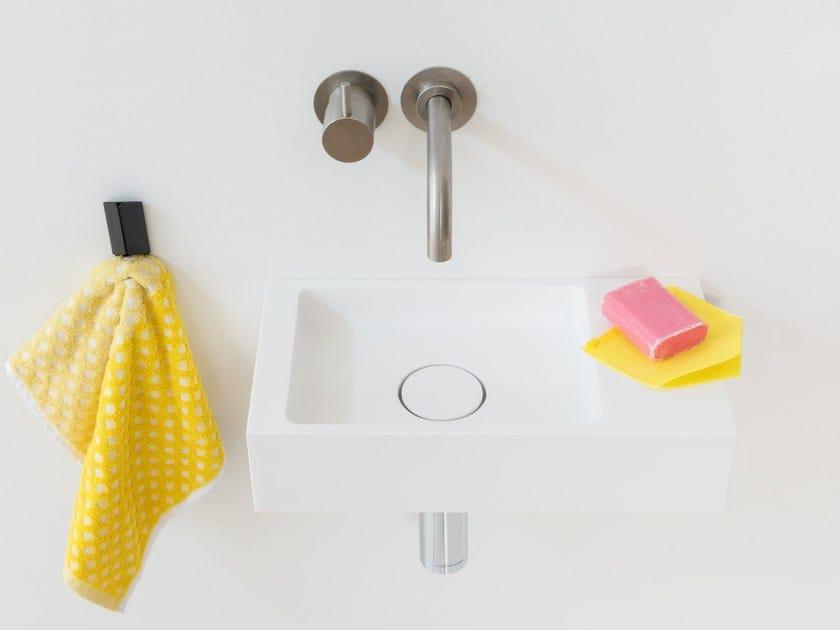 Rectangular wall-mounted HI-MACS® handrinse basin BASE | HI-MACS® handrinse basin by Not Only White