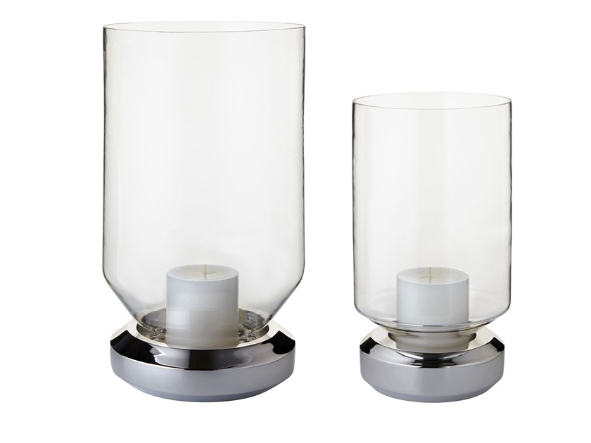 Glass candle holder BASE LIGHT by Forestier